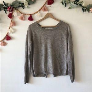 RACHEL Rachel Roy Shimmer Open Back Sweater Large